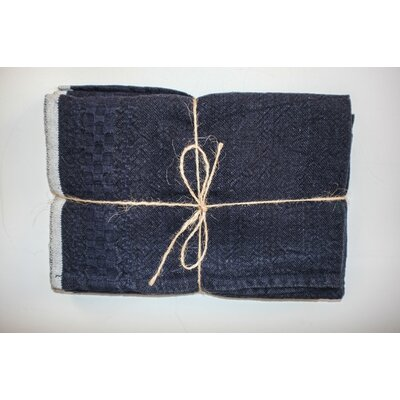 Hotel Dobby Hand Towel Color: Indigo