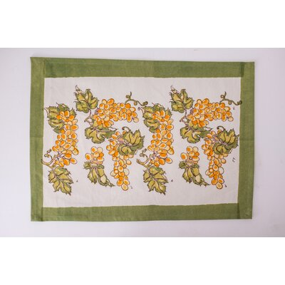 Grapevines Doormat Color: Yellow/Green