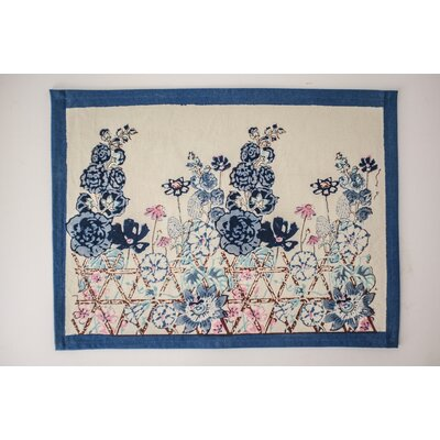 Fleur Sauvage Doormat Color: Blue
