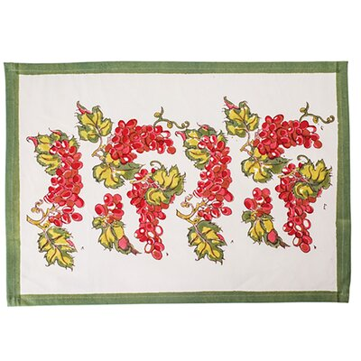 Grapevines Doormat Color: Red/Green