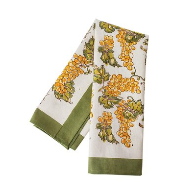 Grapevines Hand Towel Color: Yellow/Green