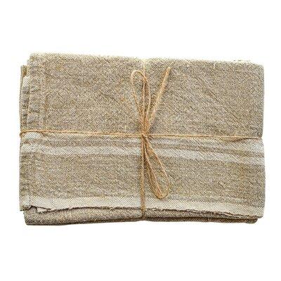 Vintage Linen Towel Color: Natural/Ivory