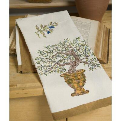 Olive Tree Gold Blue Tea Towel