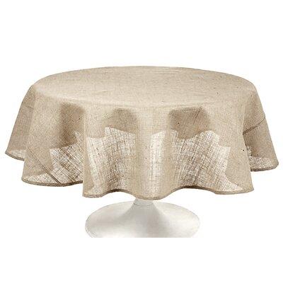 "Couleur Nature Burlap Round Tablecloth (Set of 5) - Size: Round 70"""