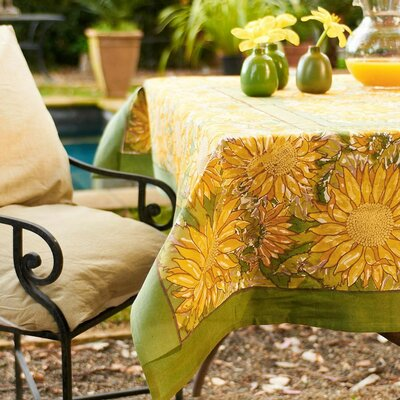 Sunflower Tablecloth Size: 86