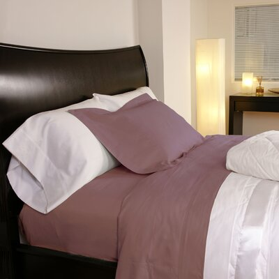 Temperature Regulating 300 Thread Count Sheet Set Size: Full, Color: Rose
