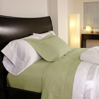 Temperature Regulating 300 Thread Count Sheet Set Color: Green, Size: Twin XL