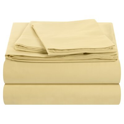 Temperature Regulating 300 Thread Count Sheet Set Size: King, Color: Corn Silk