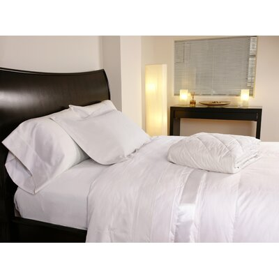 Temperature Regulating 300 Thread Count Sheet Set Color: White, Size: Twin