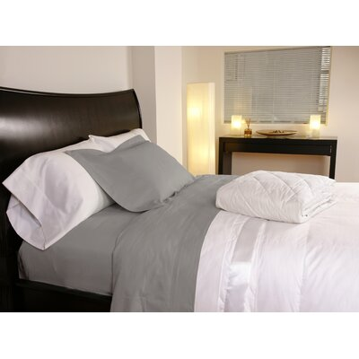 Temperature Regulating 300 Thread Count Sheet Set Size: Full, Color: Stone