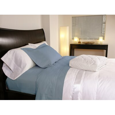 Temperature Regulating 300 Thread Count Sheet Set Color: Lake Blue, Size: Twin XL