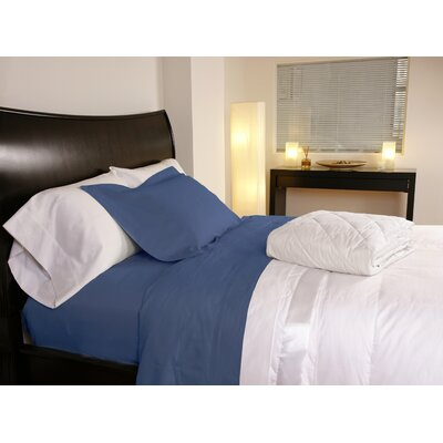Temperature Regulating 300 Thread Count Sheet Set Color: Midnight Blue, Size: Twin XL