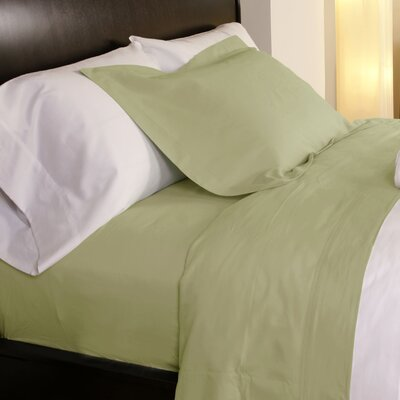 Temperature Regulating 300 Thread Count Sheet Set Size: Twin, Color: Green