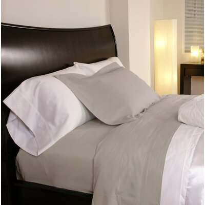 Temperature Regulating 300 Thread Count Sheet Set Size: Full, Color: Linen