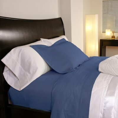 Temperature Regulating 300 Thread Count Sheet Set Size: Twin, Color: Midnight Blue