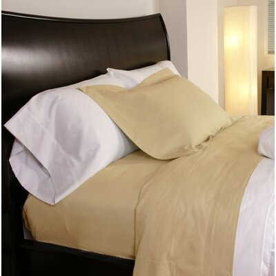 Temperature Regulating 300 Thread Count Sheet Set Size: Twin XL, Color: Cornsilk