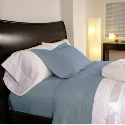 Temperature Regulating 300 Thread Count Sheet Set Size: Twin, Color: Lake Blue