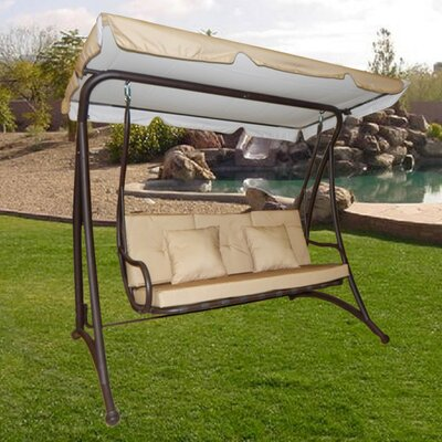 Darby 3 Seat Outdoor Porch Swing with Stand