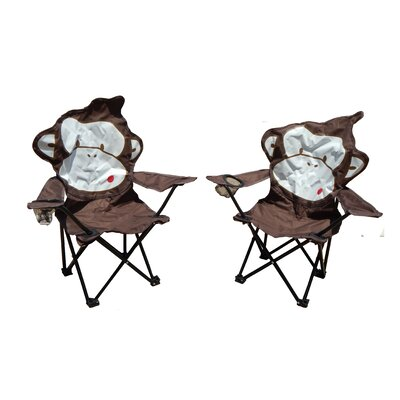 Marcus Monkey Folding Camping Kids Chair with Cup Holder ZMIE4362 41176665
