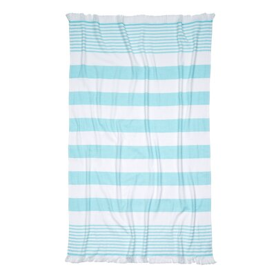 Carmel Stripe Beach Towel Color: Blue