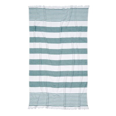Carmel Stripe Beach Towel Color: Green