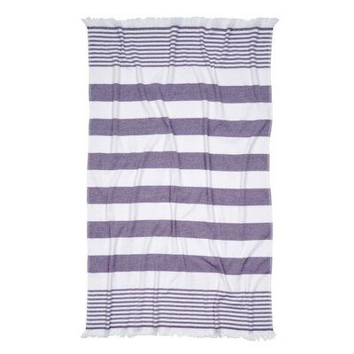 Carmel Stripe Beach Towel Color: Lavender