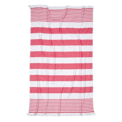 Carmel Stripe Beach Towel Color: Red