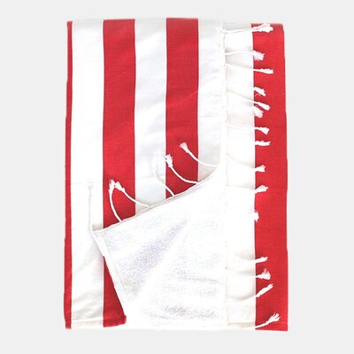 Deck Beach Towel Color: Red