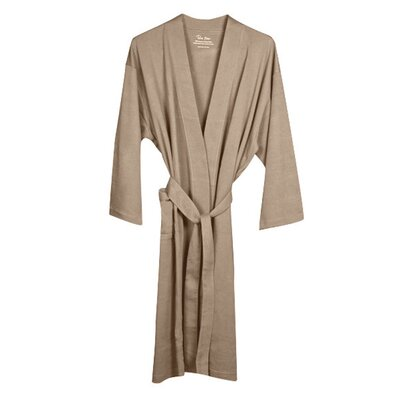 Organic Jersey Bathrobe Color: Earth
