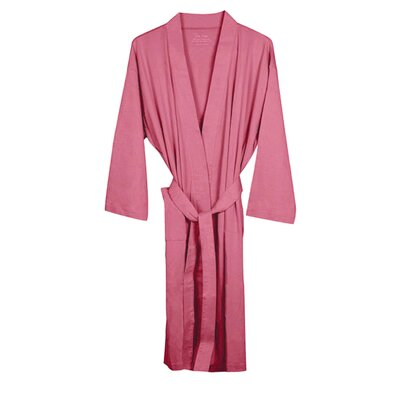 Organic Jersey Bathrobe Color: Coral