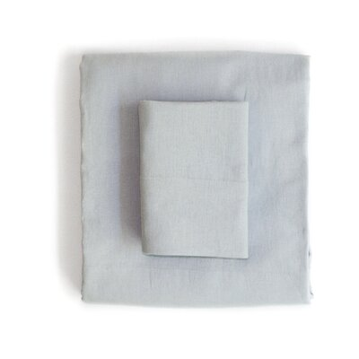 Linen & Cotton Sheet Set Size: Full, Color: Grey