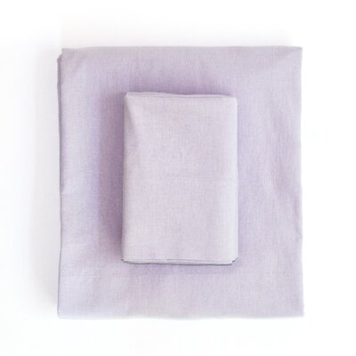 Linen & Cotton Sheet Set Size: Full, Color: Lavender