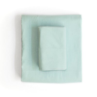 Linen & Cotton Sheet Set Size: Queen, Color: Light Green