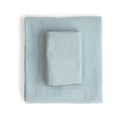 Linen & Cotton Sheet Set Size: California King, Color: Light Blue
