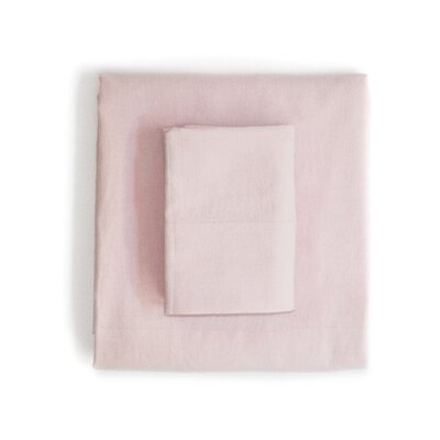 Linen & Cotton Sheet Set Size: Full, Color: Pink