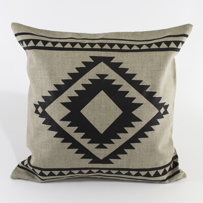 Aztec Border Pillow Cover Color: Natural