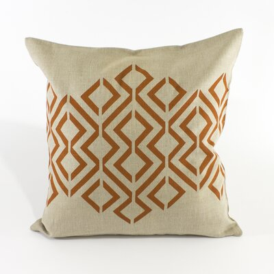Geo Diamond Pillow Cover Color: Light Natural / Burnt