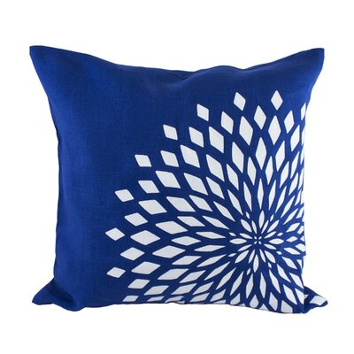 Zinnia Pillow Cover Color: Royal Blue