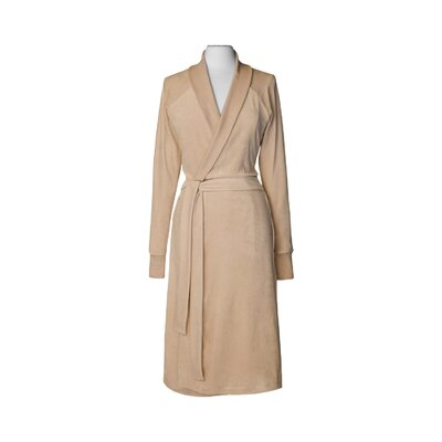 Organic Cotton Velour Bathrobe Size: Small / Medium, Color: Barley