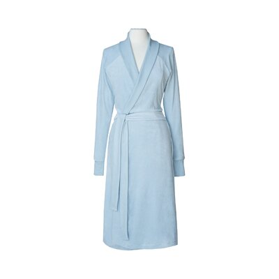 Organic Cotton Velour Bathrobe Size: Small / Medium, Color: Blue