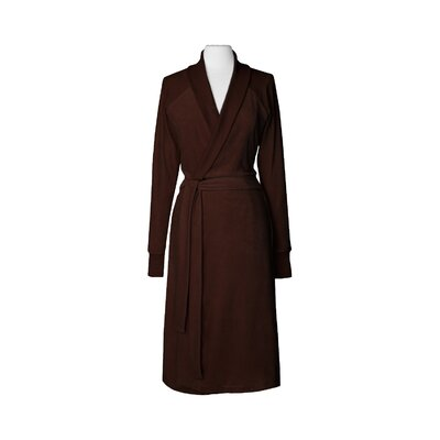 Organic Cotton Velour Bathrobe Size: Small / Medium, Color: Chocolate