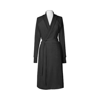 Organic Cotton Velour Bathrobe Size: Small / Medium, Color: Grey