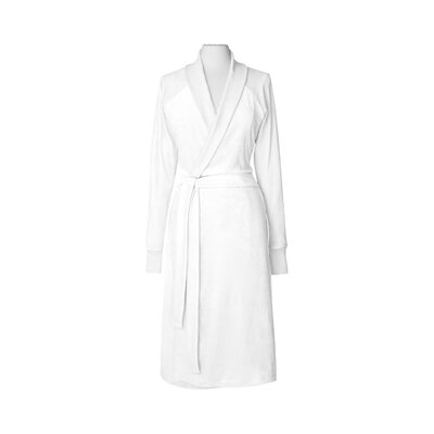 Organic Cotton Velour Bathrobe Color: Pure White, Size: Small / Medium