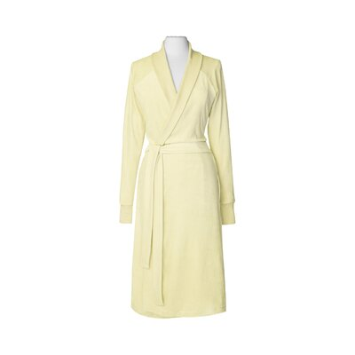 Organic Cotton Velour Bathrobe Size: Large / Extra Large, Color: Yellow