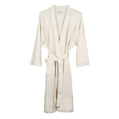 Natural Living Organic Cotton Jersey Bathrobe Color: Ecru