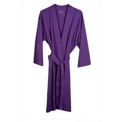 Natural Living Organic Cotton Jersey Bathrobe Color: Purple
