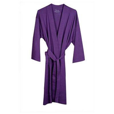 Natural Living Organic Cotton Jersey Bathrobe Color: Purple