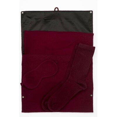 Cashmere 3 Piece Travel Set Color: Red