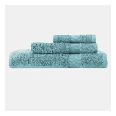 3-Piece Cotton Towel Set in Light Blue Color: Light Blue