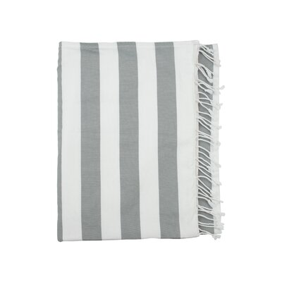 Deck Beach Towel Color: Light Grey / White